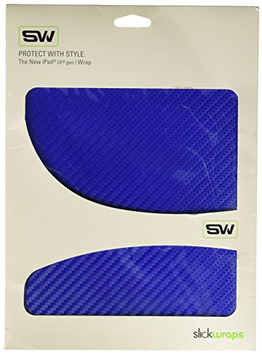 3-CARBONBLUE Carbon Fiber Skin for Apple New iPad - 1 Pack - Retail Packaging - Blue ()