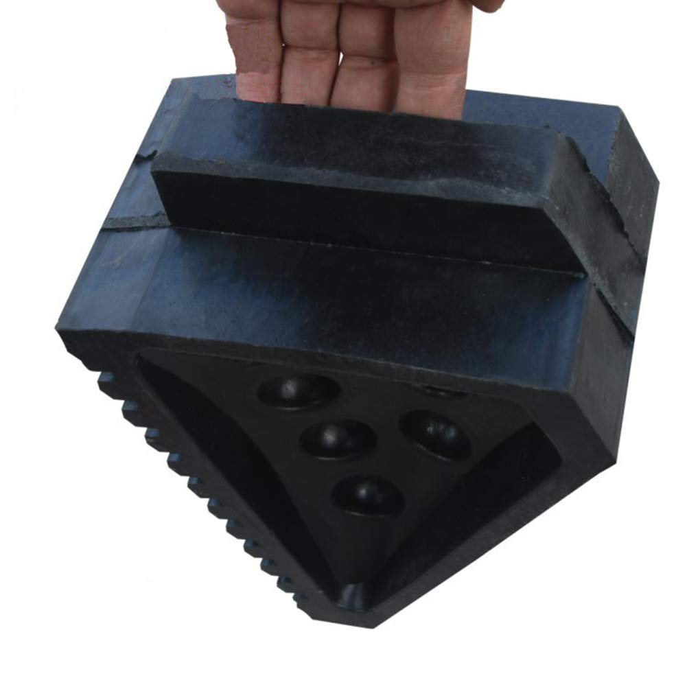 WE&ZHE Wheel Chocks with Eyebolt; Heavy-Duty; Great for Trucks, Boats, Campers by WE&ZHE (Image #2)