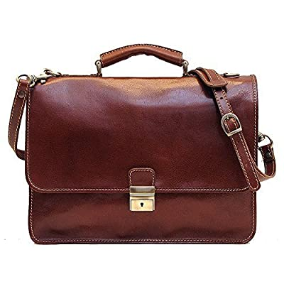 well-wreapped Cenzo Italian Leather Laptop Briefcase Bag in Brown Calfskin by Cenzo