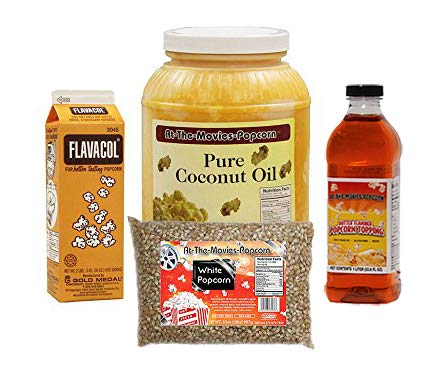 Coconut Oil-Popcorn-Flavacol (With Buttery Topping)