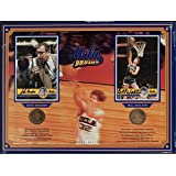 John Wooden Bill Walton Dual Signed UCLA Bruins 12x16 Medallion Coin Plaque - PSA/DNA Certified - College Photomints and Coins