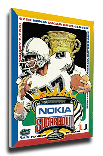 That's My Ticket 2001 Sugar Bowl Program Cover on Canvas - Miami Hurricanes - 2001 Miami Hurricanes Football