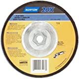 Norton 20X Abrasive Flap Disc, Type 29, Threaded Hub, Phenolic Resin Backing, Zirconia Alumina
