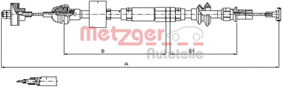 Metzger 10 3159 Cofle Seilzug Kupplungsbetätigung Auto