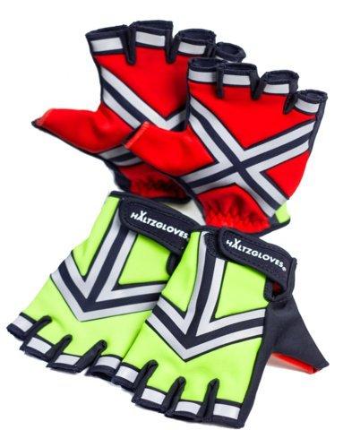 HALTZGLOVES Daytime High Density High Visibility Reflective Traffic Glove - Fingerless Gloves -