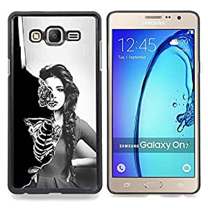 - Sexy Girl Skeleton Skull - - Cubierta del caso de impacto con el patr??n Art Designs FOR Samsung Galaxy On7 G6000 Queen Pattern