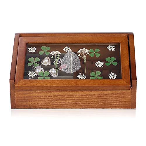 ZQZ Jewelry Box - Pine high-Density Board, Exquisite specimens, Texture Tiancheng, Retro Home Wooden Jewelry Box Jewelry Box Necklace Small Hand Jewelry Storage Box -231111.5cm (#)