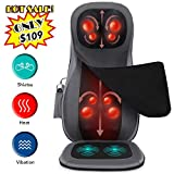 (Limited Discount) Naipo Shiatsu Back Neck Massager Chair Seat Cushion with Heat Rolling