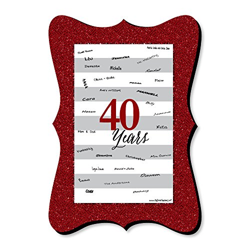 - Big Dot of Happiness We Still Do - 40th Wedding Anniversary - Unique Alternative Guest Book - Anniversary Party Signature Mat