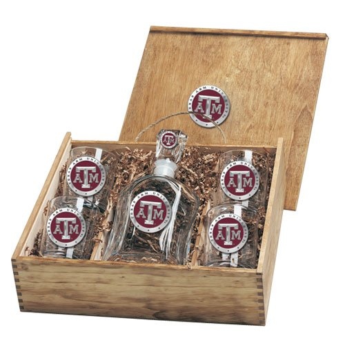 Texas A&M Aggies Capitol Decanter Box Set by Heritage Pewter