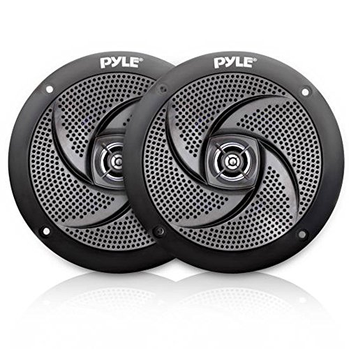 (Low-Profile Waterproof Marine Speakers - 240W 6.5 Inch 2 Way 1 Pair Slim Style Waterproof and Weather Resistant Outdoor Audio Stereo Sound System, for Boat, Off-Road Vehicles - Pyle)