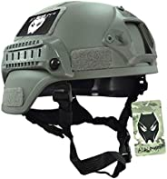 ATAIRSOFT Tactical Airsoft Paintball MICH 2000 Helmet with Side Rail & NVG M
