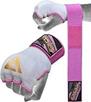RDX Boxing Hand Wraps Inner Gloves, Quick 75cm Long Wrist Straps, Elasticated, Padded Fist Hand Protection, Mu