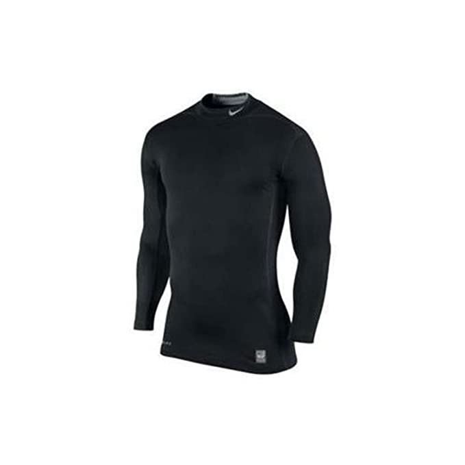 GRAY NIKE DRI FIT Combat Pro Fitted Long Sleeve Shirt Men's