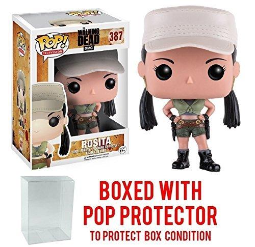 Funko Pop! TV: The Walking Dead - Rosita #387 Vinyl Figure (Bundled with Pop BOX PROTECTOR CASE)