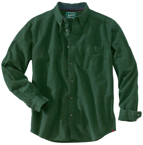 (Woolrich Men's Sportsman Chamois Shirt, Spruce Heather, L)