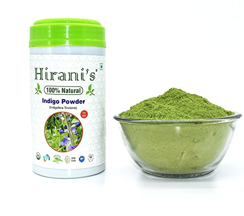 100% Natural Indigo Powder for Hair Color 227 / 0.5 LB (Indigofera Tinctoria) by Hirani's
