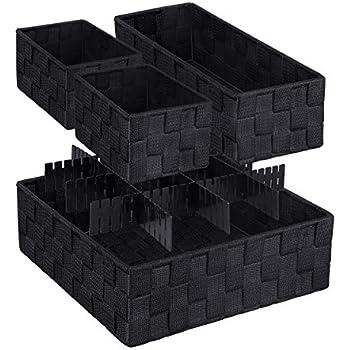 Amazon Com Leavinsky Woven Box Nylon Storage Bin Nylon