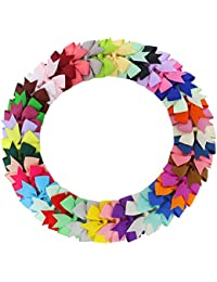 Fortop Baby Girls Boutique Grosgrain Ribbon Pinwheel Hair...
