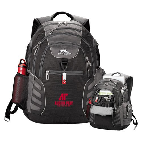 Austin Peay High Sierra Big Wig Black Compu Backpack 'AP Austin Peay Governors - Official Athletic Logo' by CollegeFanGear