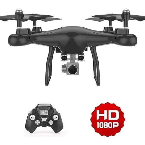 Drone con Telecamera 1080P HD, Avión con WiFi 2.4GHz FPV, RC ...