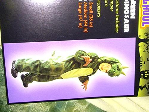Green Dinosaur Jumpsuit Halloween Child Costume L 47' NWT