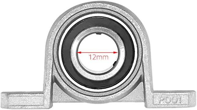 Fesjoy KP001 Di/ámetro del agujero 12 mm Rodamiento de bolas Bloque de almohada Rodamiento autoalineable Bloque montado Kit de accesorios para impresora 3D Paquete de 2 piezas