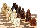 Isle of Lewis Chess Set with Wooden Chess Board
