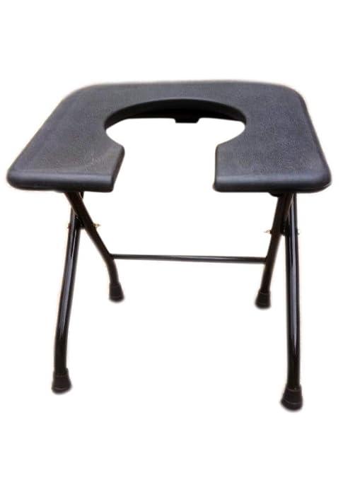 Strange Pihu Commode Stool Black Folding Elderly Disabled Men And Bralicious Painted Fabric Chair Ideas Braliciousco