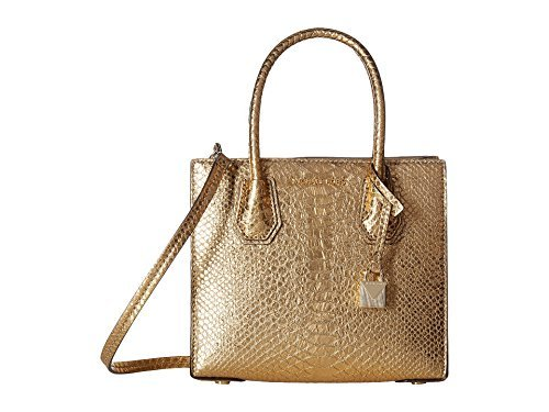 MICHAEL Michael Kors Womens Small Mercer Tote (Metallic Gold)