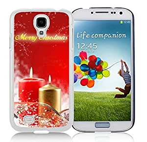 Personalization Samsung S4 TPU Protective Skin Cover Merry Christmas White Samsung Galaxy S4 i9500 Case 48
