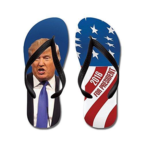 Cafepress Donald Trump For President 2016 - Infradito, Sandali Infradito Divertenti, Sandali Da Spiaggia Neri