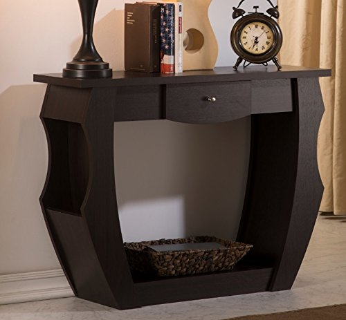 Walnut Console Table Storage Convenience product image