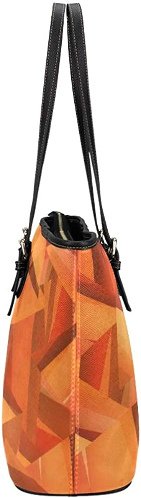 Xl Handbags Orange Colorful Vibrant Sunlight Leather Hand Totes Bag Causal Handbags Zipped Shoulder Organizer For Lady Girls Womens Handbag For Kids Girls