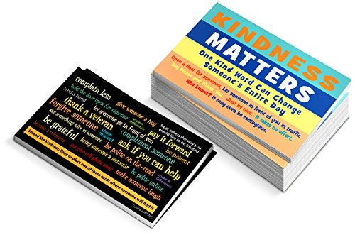 Kindness Matters Cards - Box of 100 - Kindness Is Contagious Random Acts Challenge Card