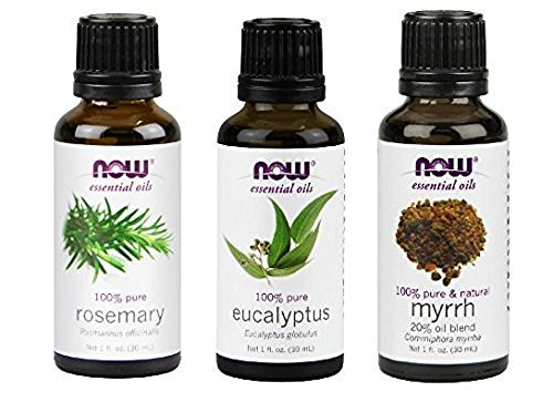 - 3-Pack Variety of NOW Essential Oils: Breathe Deep Blend - Rosemary, Eucalyptus, Myrrh