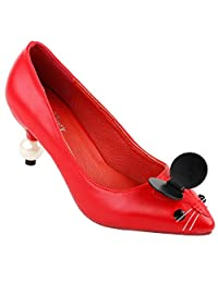 Show Story Women's Cute Mouse Pointed Toe Exquisite Pearl Heel Dress Pump,LF60408