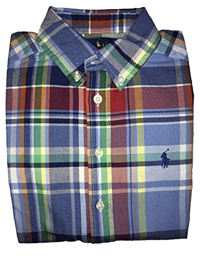 Polo Ralph Lauren Big Boys Plaid Cotton Button Down Shirt (Red Blue Green Multi, - Ralph Tartan Lauren