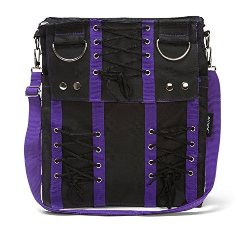 Purple Corset Sling Bag Purse Goth Vamp Rockabilly Punk Deathrock Anime Cosplay