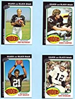 Ken Stabler, Fred Biletnikoff, Dave Casper, Cliff Branch 2004 Topps All Time Fan Favorites Silver and Black Attack 4 Card Set - Oakland Raiders