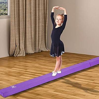 Beginners /& Professional Gymnasts 8//9.5 Wood Core Floor Balance Beam w//Carry Handles Anti-Slip Base for Kids ZELUS Folding Gymnastics Balance Beam