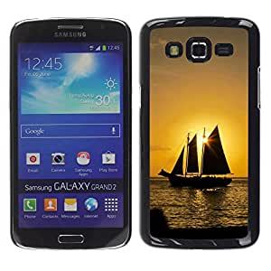 Paccase / SLIM PC / Aliminium Casa Carcasa Funda Case Cover - Sunset Ship Beautiful Nature 8 - Samsung Galaxy Grand 2 SM-G7102 SM-G7105