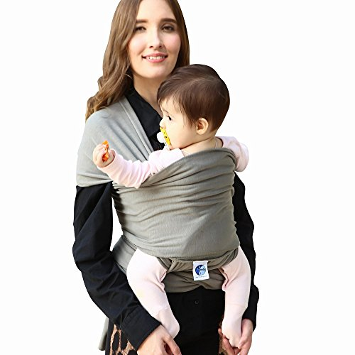 Baby Wrap, Baby Carrier, Baby Sling, Nursing Cover -for Infants and Newborn (Grey)