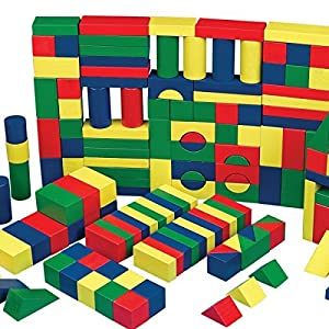 S&S Colored Wooden Block Set (Set Of 65) 840614113990 by S&S