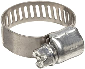 """Precision Brand M6P Micro Seal, Miniature Partial Stainless Worm Gear Hose Clamp, 5/16"""" - 7/8"""" (Pack of 10)"""