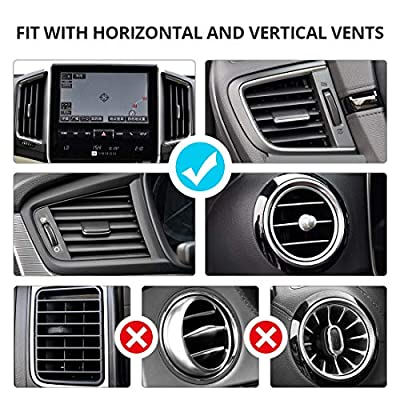 VICSEED Easy Car Phone Mount, Upgraded Air Vent Phone Holder for Car, Handsfree Cell Phone Car Mount Fit for iPhone SE 9 11 Pro Max XR Xs Max Xs X 8 7 6 Plus, Samsung Note 10 S20 S10 S9 LG Google Etc.