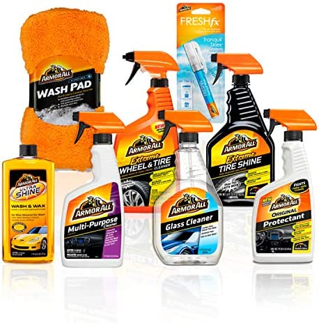 Armor All Microfiber Car Cleaning Towels Kit, Cleaner for Bugs, Dirt & Dust, For Cars & Truck & Motorcycle