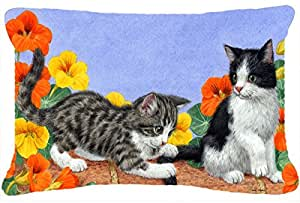 Caroline's Treasures ASA2201PW1216 Kittens on Wall Fabric Decorative Pillow, Large, Multicolor