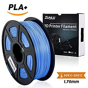3D Printer Filament PLA Plus,PLA Plus Filament 1.75 mm SUNLU,Low Odor Dimensional Accuracy +/- 0.02 mm,2.2 LBS (1KG) by SUNLU