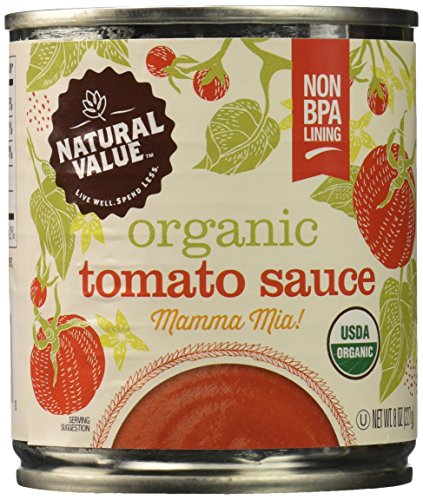 Price comparison product image Natural Value Organic Tomato Sauce,  8 Ounce Cans (Pack of 24)